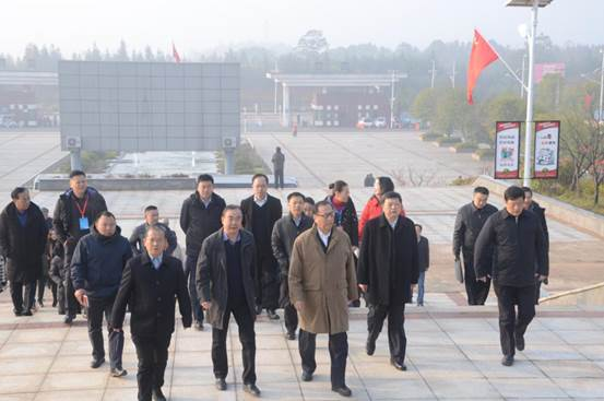 中國法學會觀摩團來我校調研咸寧市青少年禁毒宣傳教育基地